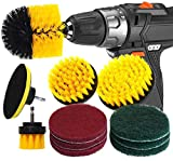 RAIN QUEEN Drill Brush 10Pcs Electric Cleaning Brush...